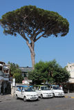Taxis in Anacapri, Italy Royalty Free Stock Images