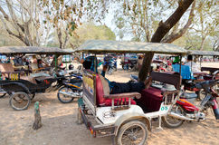 Taxis in Angkor, Cambodia Stock Photography