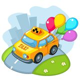 Taxis with balloons. Royalty Free Stock Photography