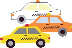 Taxis_Base Royalty Free Stock Images