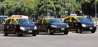 Taxis in Buenos aires Royalty-vrije Stock Afbeeldingen