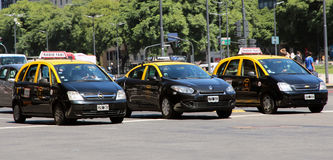 Taxis In Buenos Aires Royalty Free Stock Images