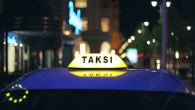 Taxis in the city in Europe. Lithuania, Vilnius stock footage