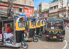 Taxis in the city of Jodhpur. Rajasthan, India Royalty Free Stock Images