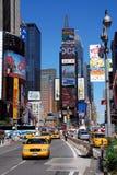 Taxis dans le Times Square Images libres de droits