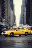Taxis dans les Times Square Image libre de droits