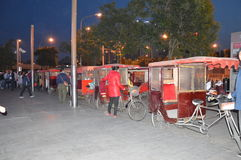Taxis de bicyclette dans Pékin Photos stock
