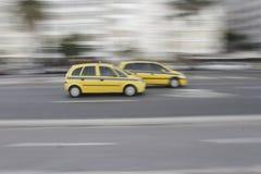 Taxis de la velocidad en Río, el Brasil Fotografía de archivo