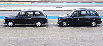 Taxis de Londres Imagen de archivo libre de regalías
