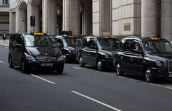 Taxis de Londres photos stock