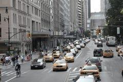Taxis de New York City Imágenes de archivo libres de regalías
