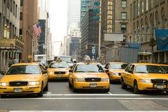 Taxis de Nueva York Imagen de archivo libre de regalías