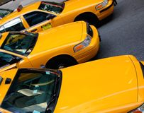 Taxis de taxi de New York Images libres de droits