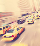 Taxis del amarillo de Nueva York Fotografía de archivo