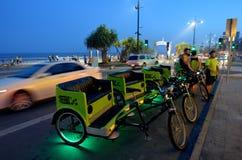 Taxis del carrito de ciclo en Gold Coast Queensland Australia Imagen de archivo