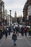 Taxis die tegen Uber protesteren Royalty-vrije Stock Fotografie