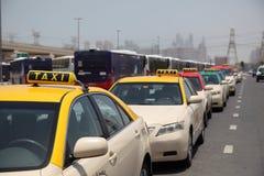 Taxis in Dubai Stock Photo
