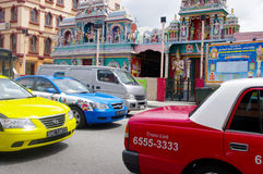 Taxis in een opstopping, Singapore Royalty-vrije Stock Fotografie