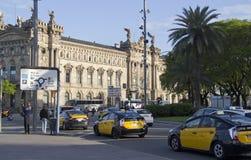 Taxis en Barcelona, España Imágenes de archivo libres de regalías