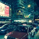 Taxis en Hong Kong Imagen de archivo libre de regalías