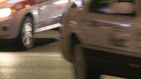 Taxis en la tira de Las Vegas almacen de video