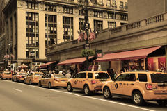 Taxis on the grand central station Stock Images