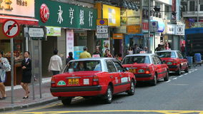 Taxis in Hong Kong Royalty Free Stock Photo