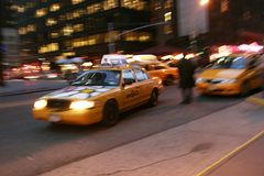 Taxis jaunes photos stock