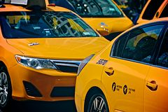 Taxis jaunes Photographie stock