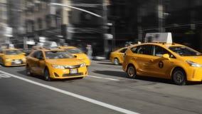 Taxis jaunes de NYC Photographie stock libre de droits