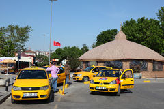 Taxis in Kadikoy, Istanbul Stock Image
