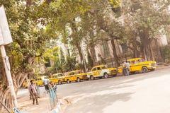 Taxis in Kolkata (Calcutta) Stock Images