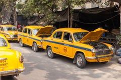 Taxis in Kolkata (Calcutta) Royalty Free Stock Photography