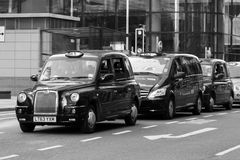 Taxis in London Lizenzfreies Stockfoto