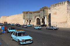 Taxis in Meknes, Morocco Stock Photo