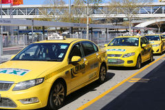 Taxis in Melbourne, Australië Stock Foto