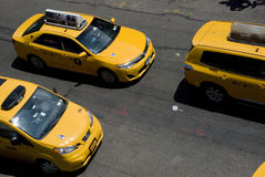 Taxis - New York yellow cabs from above Stock Photo