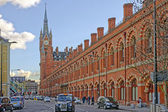 Taxis outside st pancras station, london Stock Image