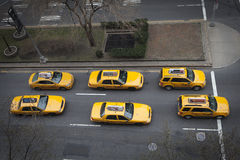 Taxis at Park Avenue Stock Photos