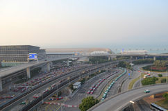 The taxis queues in the hong kong Stock Photography