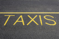 Taxis road markings Stock Photos