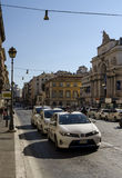 Taxis in Rome Stock Photography