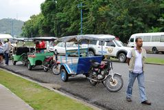 Taxis in Samana. Dominican Republic, waiting for tourists Stock Photo