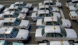 Taxis, Sendai, Japan Stock Photo