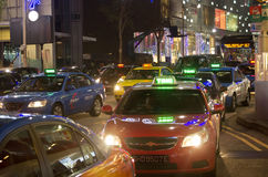 Taxis Singapore Stock Afbeelding
