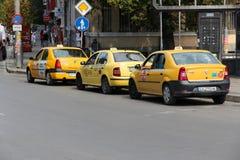 Taxis in Sofia Stockbild