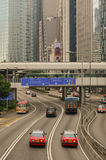 Taxis on the street in Hong Kong Stock Photos