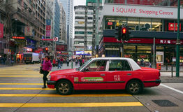 Taxis on the street in Hong Kong Royalty Free Stock Images