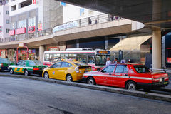 Taxis on the street in Tokyo, Japan Stock Image