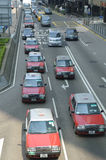 Taxis and traffic Royalty Free Stock Photo